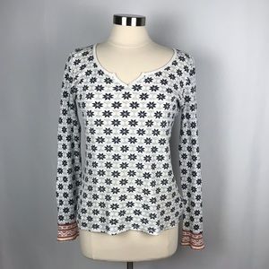 Lucky Brand Long Sleeve Thermal Top Snowflakes. XL